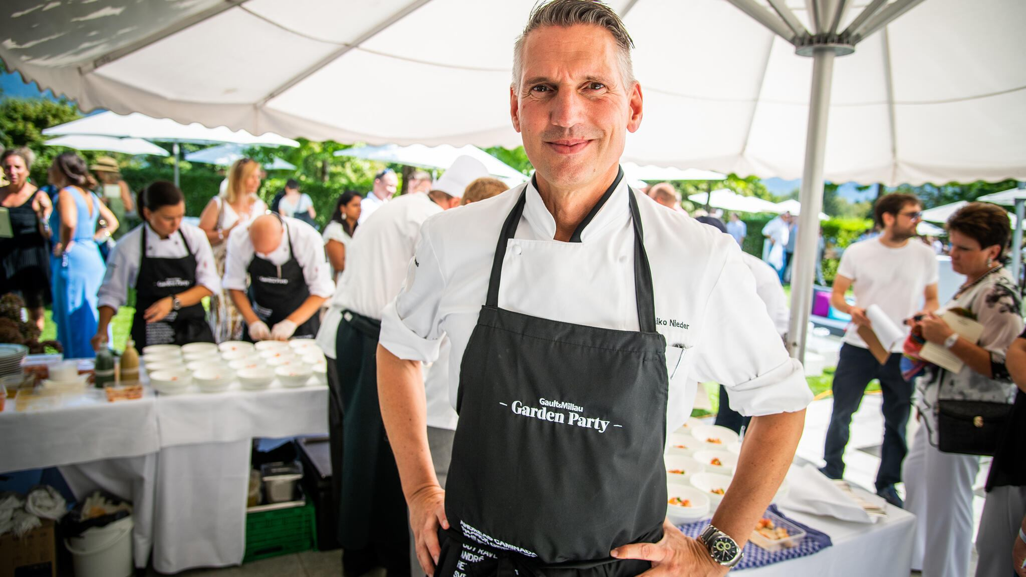 Heiko Nieder an der GaultMillau Garden Party in Bad Ragaz