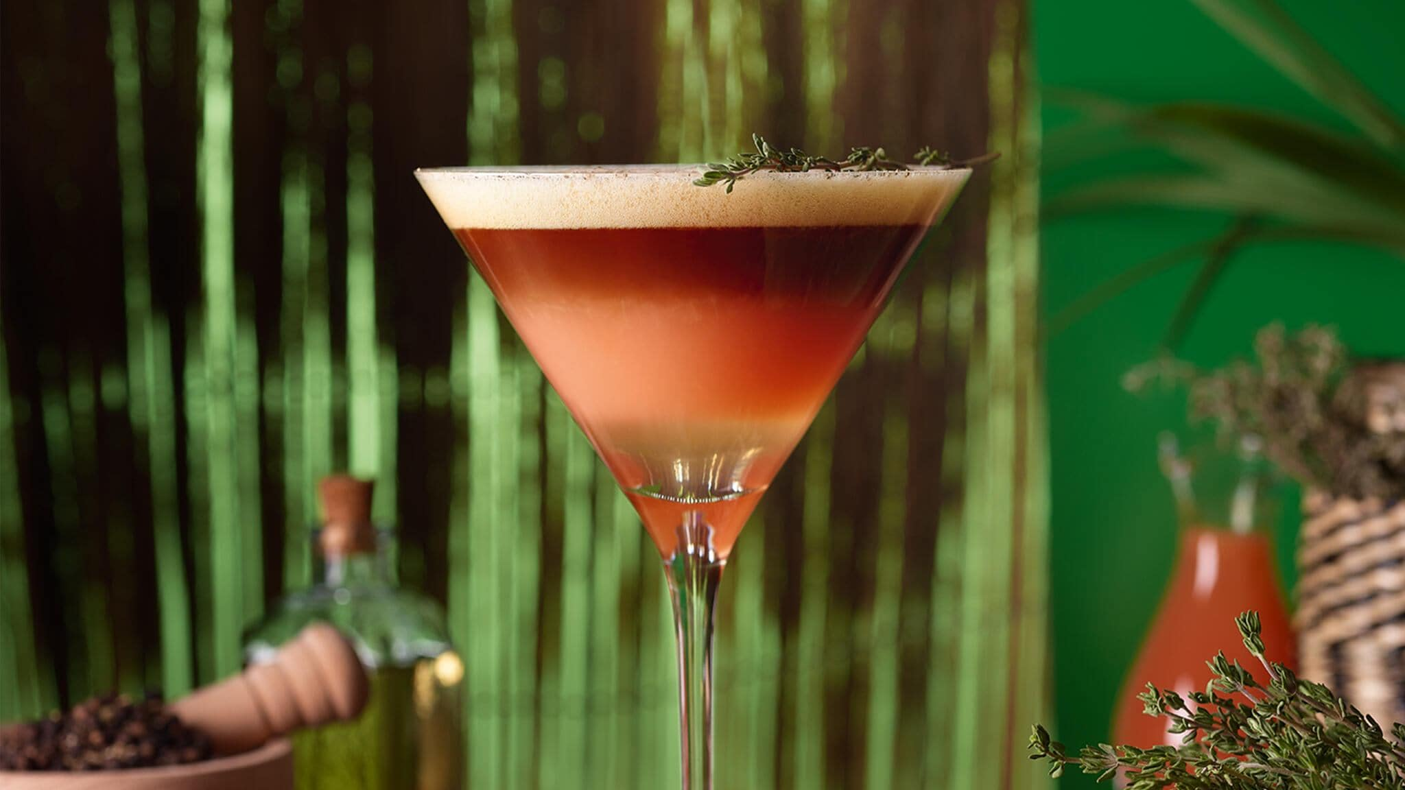 Grapefruit & Thyme Coffee Cocktail