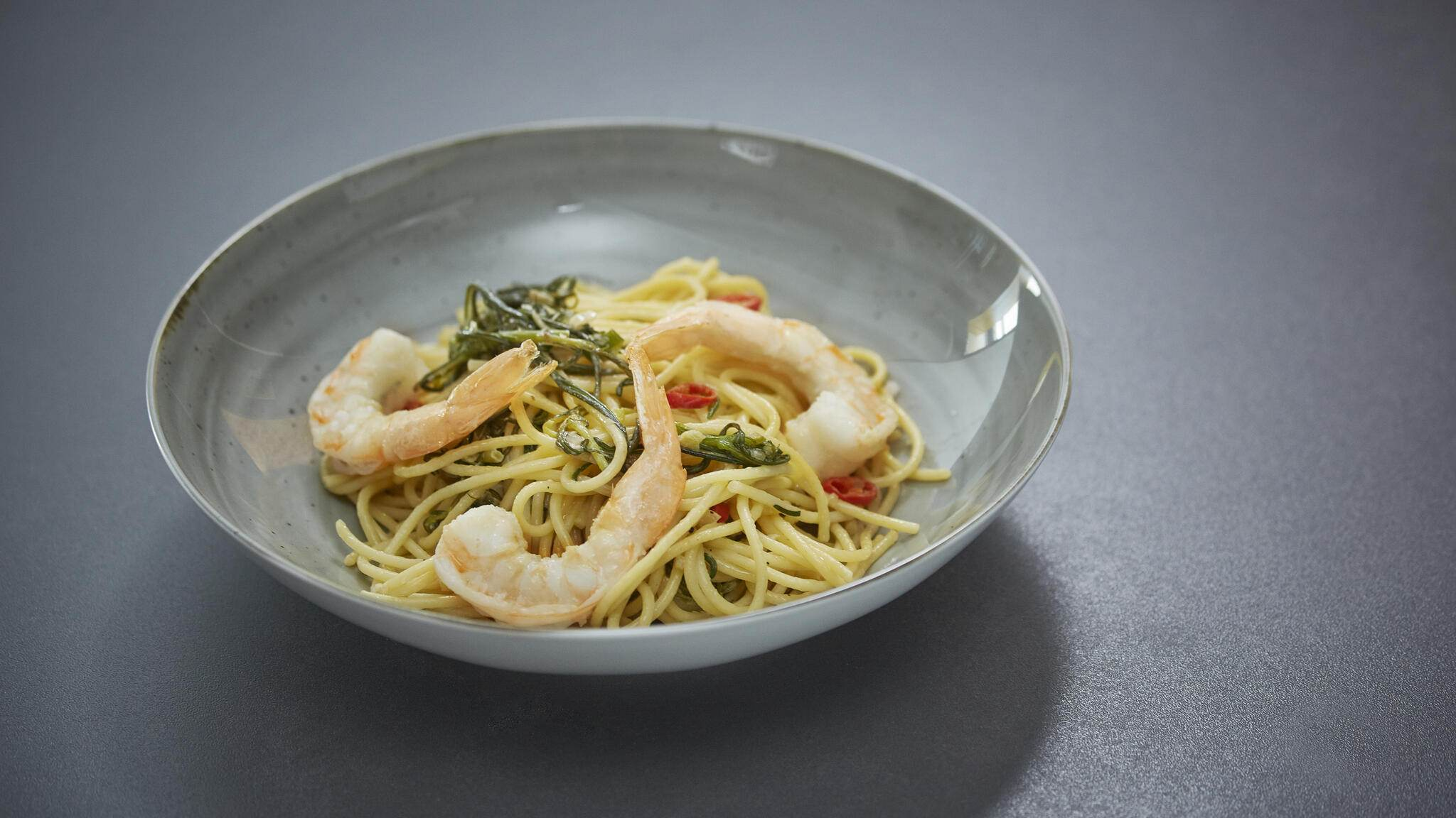 Spaghetti Swiss Shrimps