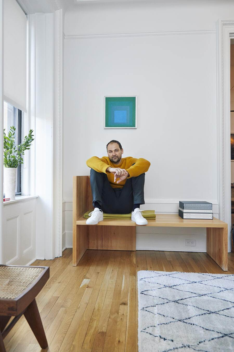 daniel Humm at his appartment in NYC