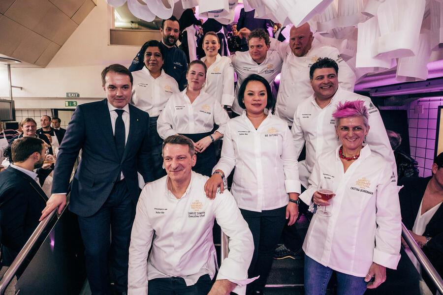 Impressionen der Kitchen Party am St. Moritz Gourmet Festival 2020 in St. Moritz, am 04. Februar 2020. (PPR/WITWINKEL/David Hubacher)