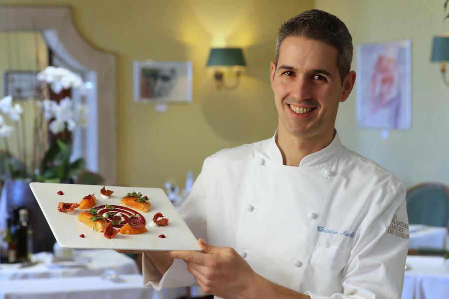 LUGANO, 21.02.2019 - Photo shooting Hotel Villa Principe Leopoldo, Lugano. Christian Moreschi, nuovo Chef di Cucina. copyright by www.steineggerpix.com & VPL / photo by remy steinegger