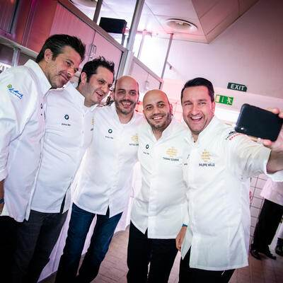 Kitchenparty 2019: Sergio Hermann, Guillaume Galliot, Mathas und Thomas Sühring, Pilippe Mille,