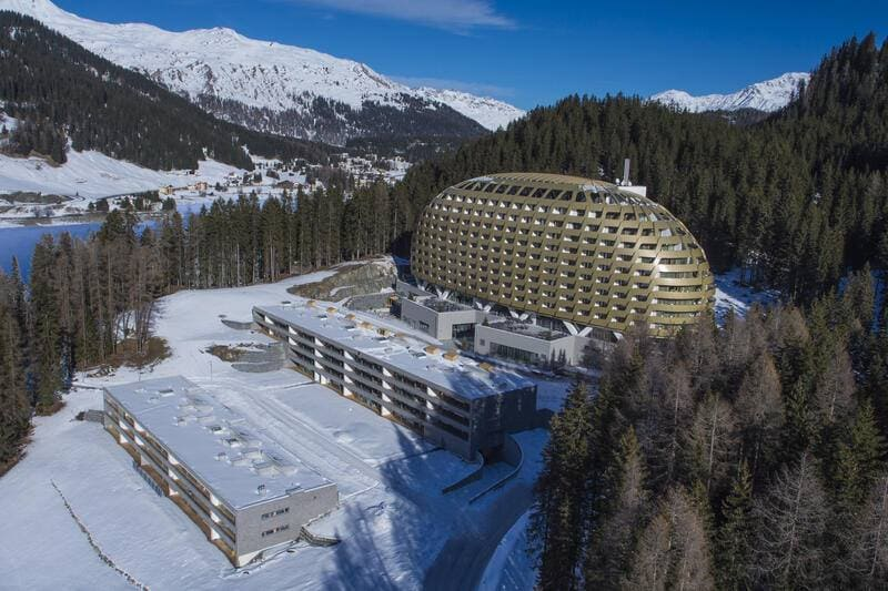 Intercontinental Davos Donald Trump Goldenes Ei