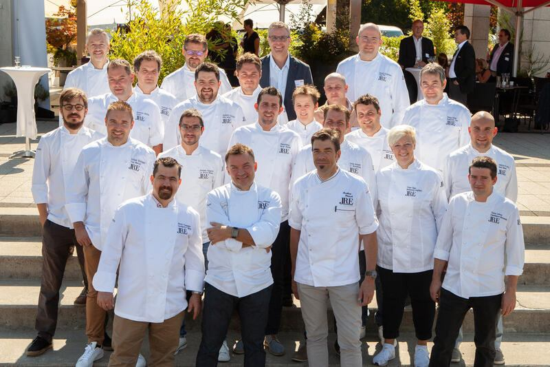 Gruppenbild Jeunes Restaurateurs am Partnerlunch 2018