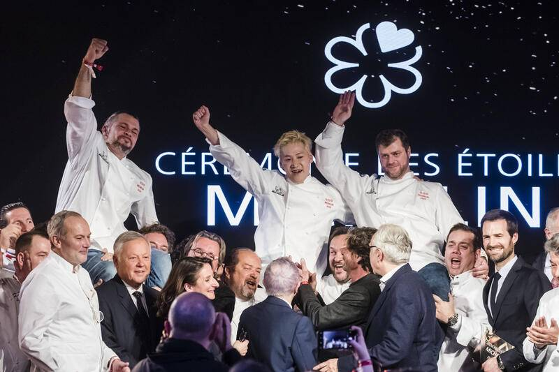 Paris, France January 27, 2020 - Gala of Michelin Guide 2020 list of top restaurants and chefs - French Glenn Viel, Japanese Kei Kobayashi, French Christopher Coutanceau ETOILES MICHELIN, CUISINE, CHEFS, RESTAURANTS ETOILES, GASTRONOMIE PUBLICATIONxNOTxINxFRA Copyright: xVincentxIsorex
